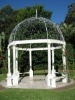 Marble carving gazebo with metal roof