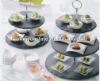 table mat, square table mat,black slate cake plate