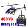 2.4G R/C Hobby Trex 450 V3 6CH R/c Helicopter RTF 450 RC helicopter