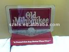 SP2 OLD MILWAUKEE BEER SIGN LIGHT 70 STROH LIGHTED BACK BAR DISPLAY