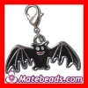 Fashion Zinc Alloy Black Bat Charms Keyrings Wholesale
