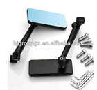 CNC Universal Motorcycle Bike Convex Blue Mirror Glass Dynamic IPHONE Style