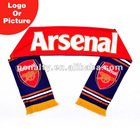 Arsenal football fan scarf
