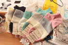 cotton womens boat socks