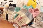 cotton womens boat socks