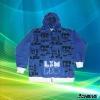 custom brilliant color hoody sport coat