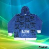 custom brilliant color hoody sport coat