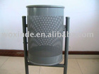 steel garbage can