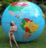 Factory big inflatable globe ball ,inflatable earth ball