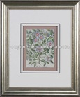Red Flower And Green Leaves Print Painting For Decoration With High Quality Frame