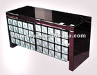 2012 New Design on sale Bubbles modern mirrored purple and clear chest of 4 drawers, mirrored chest, mirrored furniture