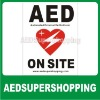 AED decals,AED automated external defibrillator inside decal sticker