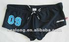 men's fashion number printng swimming boxer
