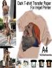 A4 T-shirt Transfer Paper ( dark color )