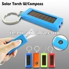 solar powered keychain light with compass,Solar Keychain Light