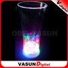LED flashing murano clear glass cups for bar