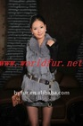 L-1103 wool Coat with fox fur collar for women