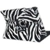 Zebra-stripe 360 Degree Rotating Magnetic Leather Case Smart Cover Stand For iPad 2 3nd