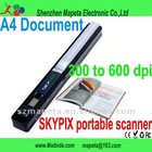LCD Mini Portable Handheld SCANNER SKYPIX Cordless USB A4 Color 600 dpi Win 7