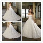 Goingwedding full of roses wholesale designer wedding dresses with long train 2013 MR031
