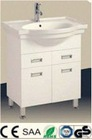 European classical style oak wood bathroom cabinet vanity