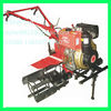 Gasoline Diesel tiller with ridger hoe plough Electric starter
