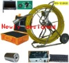 Drain pipe inspection camera with recorder
