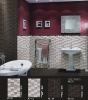 tartan design ceramic glazed 300x450mm interior wall tile