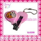 Fashion promotional plastic animal shape nail clipper