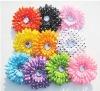 4inch multicolor Gerbera Daisy Flower w Acrylic Diamond for Hair/Clothes Decoration