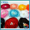 Various color silk flower with pearl girls' hair flower in fashion design