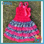 Princess dress for kids New zebra lace and satin dress for girls