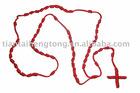 rope rosary/knot necklce/rosary bracelet/knot bracelet/cord bracelet/rope bracelet