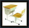 Strong And Delicate Of Metal School Desk & Chairs