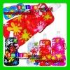 MOQ:10pcs mix styles Free Shipping BPA-free hot selling 16OZ(480ml) 6colors flower pattern hot foldable sport water bottles
