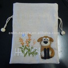 HOT! machine embroidery dog pouch