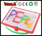 Mosaic Board 120 Round Pegs Fun Plastic Educational Game QL-010(B)-7