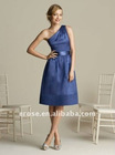 Hot Sale One-Shoulder Knee Length Cheap Bridesmaid Dresses BD-C203