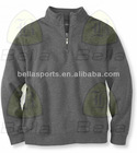 Quarter-zip High Quality long sleeve Mens Fashion Sweatshirt without hoody