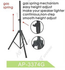 A-3374G gas spring speaker stand