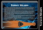 Guitar and bass straps withTuner B1-1