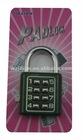 3 digit combination pad lock