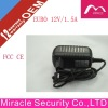 !!! Hot Selling Euro 12V 1.5A power adapter for CCTV /LED/DVD