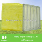 yellow non-woven bag air Filter F8 F9 for ahu