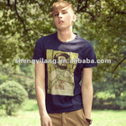 OEM US stylest Men's O-neck t-shirt with Discharge printing