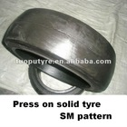 Pattern SM,mould on solid tyre ,22x7x17 3/4 solid tires