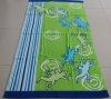 100% cotton reactive printed beach towel