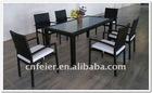 6 seats modern rattan dinning table