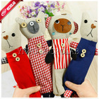 korean cute canvas cartoon pencil bag