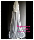 Two Layered Laced Long Veil